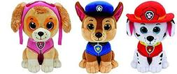 Ty Paw Patrol Beanie Babies - Set of 3! Marshall, Chase, and