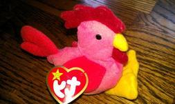 TY Teenie Beanie Babies Strut the Rooster Stuffed Animal Plu