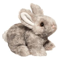 "Douglas Tyler GRAY BUNNY 7.5"" Plush Stuffed Rabbit Animal Cu"