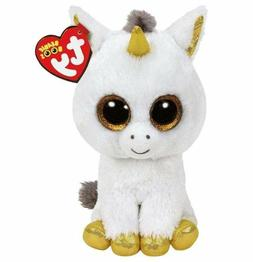 Unicorn 6 Ty Beanie Boos Whiskers Puppy Glitter Eyes Plush S