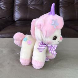 "AMUSE - Unicorn No Cony Yellow Pink Star Plush Toy 5"" Smal"
