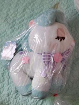 """Amuse Unicorn Plush No Cony 18"""" Tall Stuffed Animal Toy Blue"""