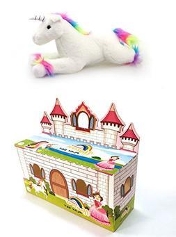 Unicorn Plush Toy, Rainbow Unicorn Stuffed Animal Toy 12 inc