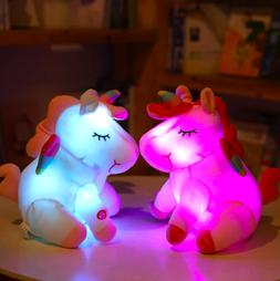 unicorn stuffed animal cute princess girls nightlight