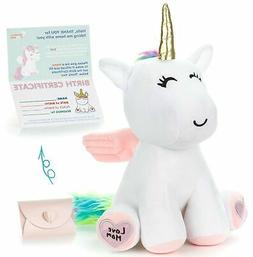 """Unicorn Stuffed Animal - Cute Unicorn Gifts Large 13"""" White"""