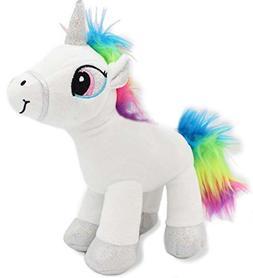 Unicorn Stuffed Animal Plush Toy Soft Rainbow White 12 inch
