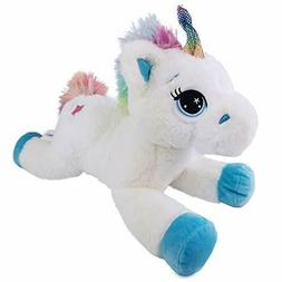 Unicorn Stuffed Animal with Rainbow Tail Great Gift for All