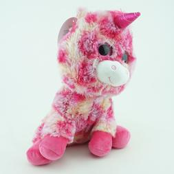 "Unicorn Stuffed Animals Toy Small 11"" Soft Cuddle Pink Multi"