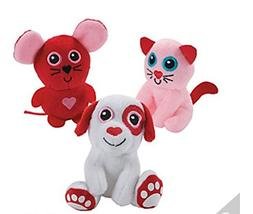 Valentine's Day Anime Stuffed Animals pack of 3 pcs pink,r
