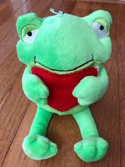 "Hallmark Valentines Day Frog Stuffed Animal 6""  NWOT"