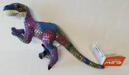 Wild Republic Velociraptor Colorful Dinosaur Plush Stuffed A