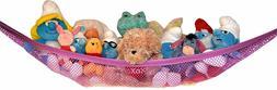 Versatile Toy Pink Storage Net for Stuffed Animals Hammock H