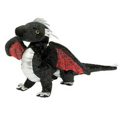 VINCENT the Plush BLACK DRAGON Stuffed Animal - by Douglas C