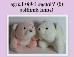 Vintage 1980 Gund Snuffles Pink  and White