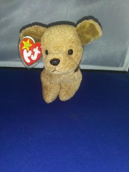 """Vintage 1996 Ty Beanie Baby """"TUFFY"""" The dog~ Retired~ New wi"""