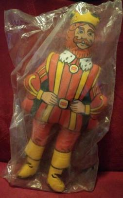 "Vintage Burger King THE KING 13"" Plush BK Stuffed Toy SEALED"