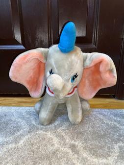 "Vintage Walt Disney World Dumbo Plush Stuffed Animal 12"" - 1"