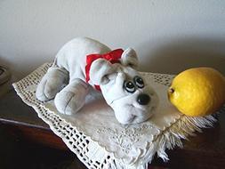 VTG 1980s Pound Puppies Grey Gray Wrinkled Sad Puppy Dog Plu