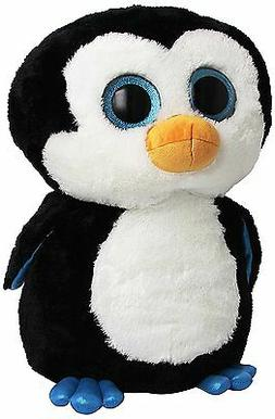 "Ty Beanie Boos Waddles Penguin 16"" Plush Large"
