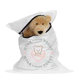 """Teddy Needs a Bath! 20""""x30"""" Large Washer and Dryer Bag for S"""