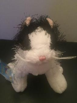 WEBKINZ GANZ BLACK AND WHITE CAT HM016 NEW WITH SEALED CODE
