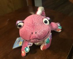 Ganz Webkinz Pink Sparkly Gecko Lizard Stuffed Plush Animal