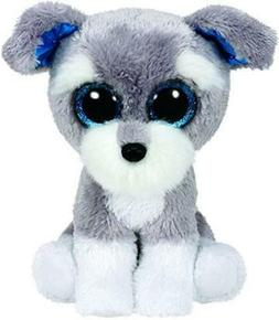 Ty Beanie Boos Whiskers The Grey Schnauzer Dog Plush