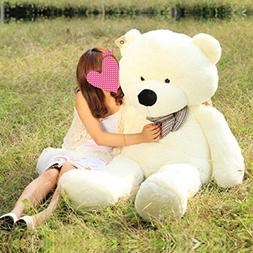 """Vercart 4 Foot 47"""" White Color Giant Huge Cuddly Stuffed Ani"""