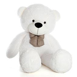 WOWMAX 4 Foot White Giant Huge Teddy Bear Cuddly Stuffed Plu