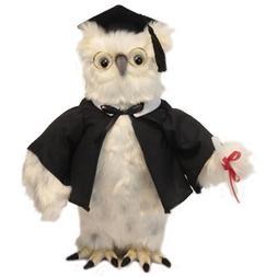 White Graduation Owl 13 in