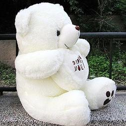 "VERCART 3 Foot 36"" White I Love You Giant Cuddly Stuffed Ani"