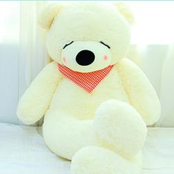 YXCSELL 4 FT 47 Inches White Super Soft Huge Plush Stuffed A