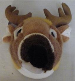 "11"" White Tailed Deer Head Plush Stuffed Animal Toy by SAH"