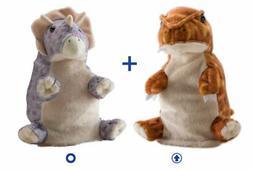 Wild Republic Switch A Rooz Plush - Dinosaur T-Rex/Tricerato