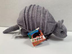 Zoona Wildlife Gray Armadillo Plush 6 in. Stuffed Animal Toy
