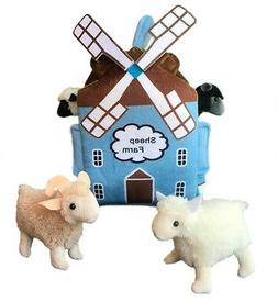 "ADORE 12"" Windmill Sheep Farm House Stuffed Animal Plush Pla"