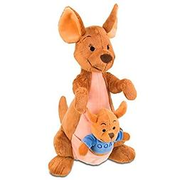 "DISNEY WINNIE THE POOH 13"" KANGA & ROO in Pouch PLUSH Doll R"