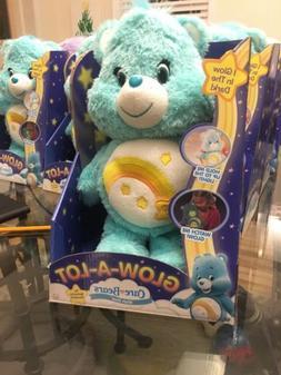 CARE BEARS Wish Bear GLOW-A-LOT glow glo plush stuffed shoot