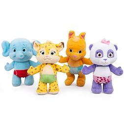 """Snap Toys Word Party 7"""" Plush Baby Animals, 4 Pack - Lulu, B"""