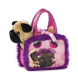 Aurora World Fancy Pals Pompom Pug Playset, Purple, 7""