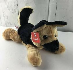 Aurora World Flopsie Dog Bismarck Plush NWT Brown Black Supe