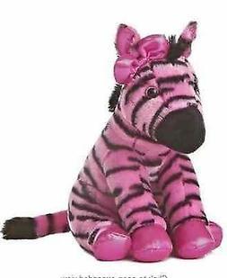 "Aurora World Girlz Nation Pink and Black Zebra Plush, 11"""