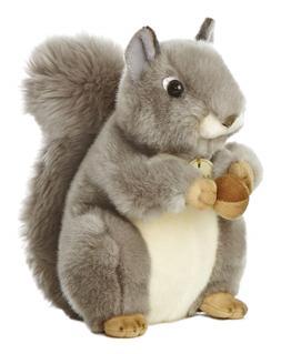 world miyoni grey squirrel 8 plush