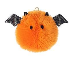 "Aurora World Orange Puff Ball Bat Plush, Orange, 5"""