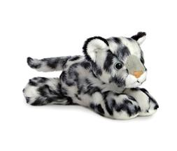 Aurora World Plush - Mini Flopsie - SNOW LEOPARD  - New Stuf