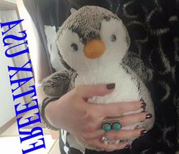 "World Sweet and Softer Perky Penguin 9.5"" Plush Grey"