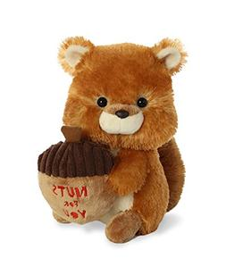 Aurora World Val Sayings Nuts for You Squirrel Plush Animal,