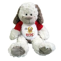 Year of the Dog 2018 Stuffed Animal - Personalized 14 inch C