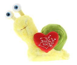 Dollibu Yellow Snail I Love You Valentines Stuffed Animal -