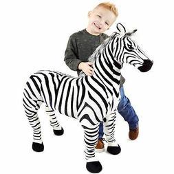 VIAHART Zelassie The Zebra | 3 Foot Big Stuffed Animal Plush